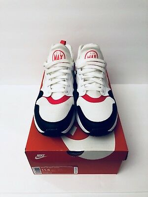 hot sale online faf86 63e97 Nike Air Max Prime Running Shoes White Siren Red Black 876068-102 -