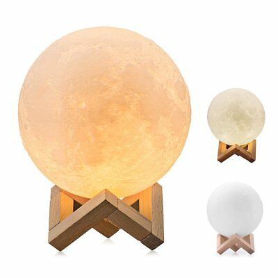 Moon Light, BRIGHTWORLD 3D Printing Moon Lamp Night Light, Stepless Dimmable and