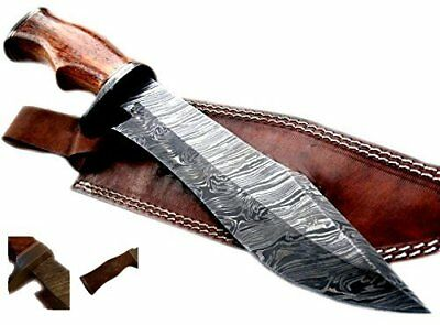 Nescole 14 inch Bowie Knife- Handmade Damascus Knife- Decorative Knives, Camping
