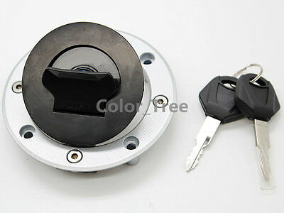 Gas Fuel Tank Cap Cover 2 Keys for Suzuki SV650 SV650S 1999-2002 GSX600F 2003