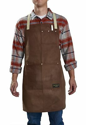 Craftsmans Guild Waxed Canvas Heavy Duty Apron Cotton Straps Utility Tool BBQ