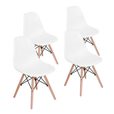 Set of Designer 4 Inspired Vintage Eiffel Retro DSW Dining Office Lounge Chairs