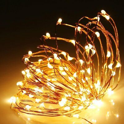 2-10M LED Copper Wire String Lights Fairy Lights Xmas Party Waterproof battery