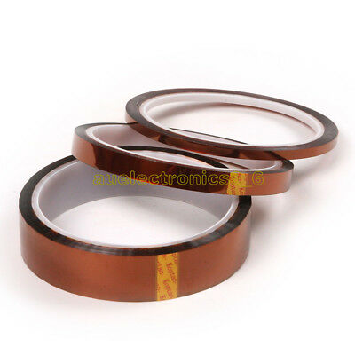 5/10/15/20/30/50mm 5~50mm x33M Kapton Tape Heat Resistant Insulation Polyimide
