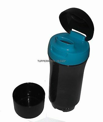 Tupperware Eco Black Flip Top Water Bottle - 750 ml attach glass - Free shipping