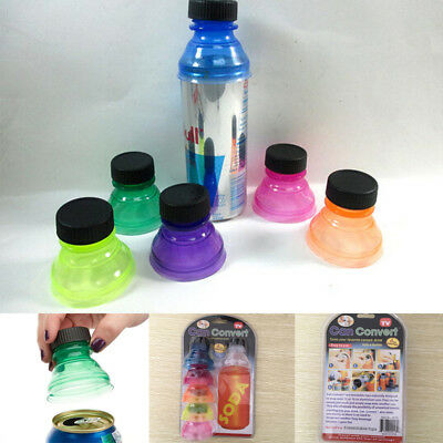 6 Pack Soda Can Savers Reusable Drink Covers Lid Protector Spill Free Bottle