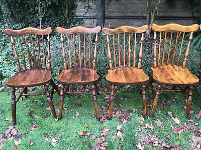 Antique Spindle Back Dining Chairs