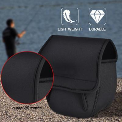 Fly Fishing Reel Cover Fly Reel Bag Protective Case Pouch Holder Black WY