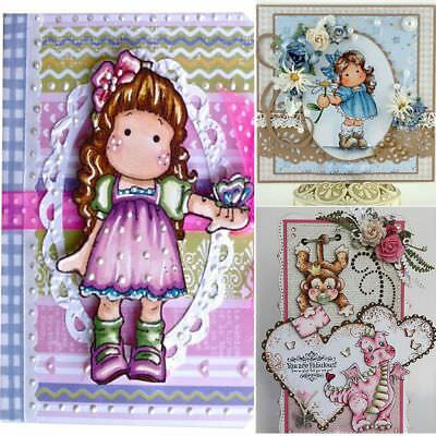 Lovely Girl Metal Cutting Dies Stencil Scrapbooking Paper Craft Embossing Card