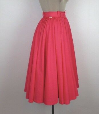 1950s Lee Mar Of California Pink Circle Skirt Vintage 50s XS