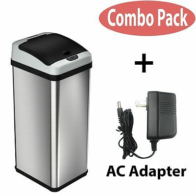 iTouchless Deodorizer Automatic Sensor Touchless Stainless Steel Trash Can