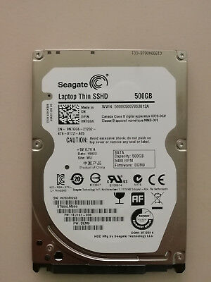 Seagate Laptop Thin SSHD 500GB SSD Hybrid Festplatte 7mm ST500LM000