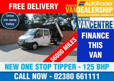 69c31f6874ab50 Ford Transit 350 Doublecab One Way Tipper Lwb 125 Bhp New One Stop Body 6  Seats