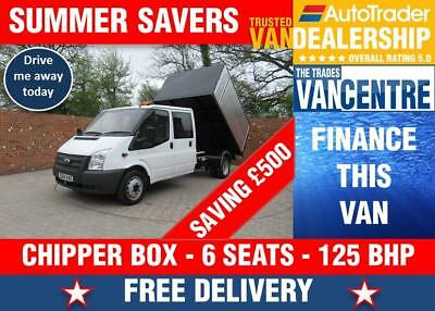eea6a4c7563642 Ford Transit 350 Doublecab One Way Chipper Tipper Lwb 125 Bhp 6 Seats