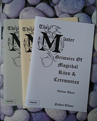 The Master Grimoire Of Magical Rites & Ceremonies, Witchcraft Occult 3 Books