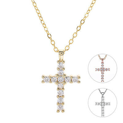 Stainless Steel Mens Cross Pendant Necklace Blue Black Chain Jewelry for Women