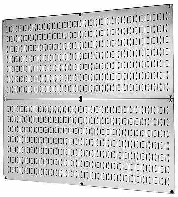 Pegboard Rack Wall Control Galvanized Steel Pegboard Pack - Two 32-Inch x