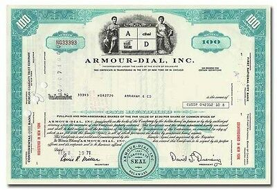 Armour-Dial, Inc. Stock Certificate