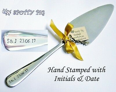 Personalised Cake Slice Server Wedding or Celebration Initials & Date Gift
