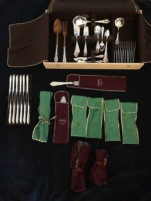 Wallace Sterling Rose Point ANTIQUE 107 piece collection (1950s). BARELY used.