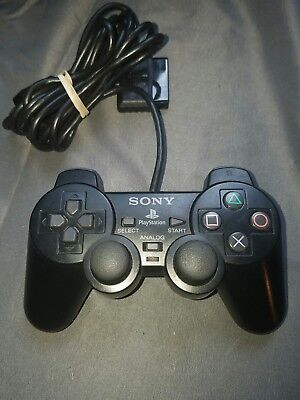 Official Sony PlayStation 2 PS2 Black Dualshock 2 Controller Original OEM Nice!