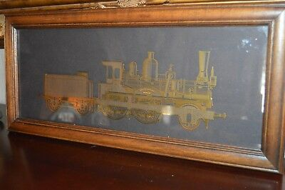 Franklin Mint 1983 Framed The Orient Express 24k Gold Over Sterling Silver