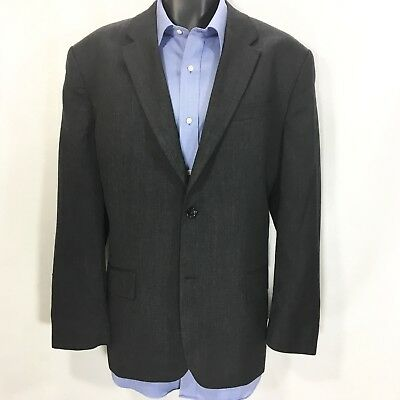BANANA REPUBLIC Mens Gray Suit Jacket Size 44R | 100% Wool 2 Button Sport Coat