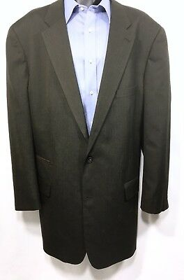 OAK HILL Mens Brown Suit Jacket Size 52L |  2 Button Sport Coat
