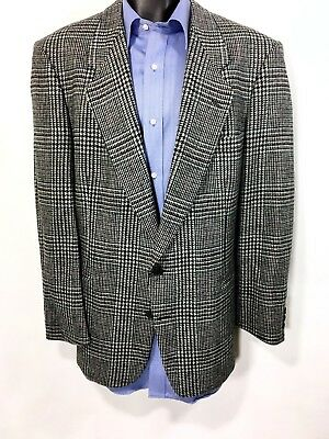 PIERRE CARDIN Houndstooth Blazer Size 42R | 100% Wool 2 Button Sport Coat