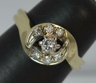 9 Carat Gold and Diamond Cluster Ring f0174