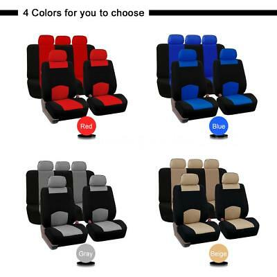 Car SUV Seat Covers Universal For Auto Fabric 9 PCS Set With 2mm Sponge T2L0