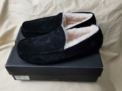 9927ce345c9 UGG ASCOT SUEDE black mens slippers size 13 - $99.99 | PicClick
