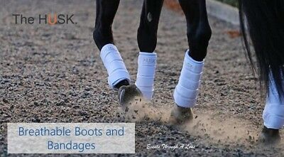 The HUSK Air Dressage Schooling Support Wrap Boots - White Large Set of 4