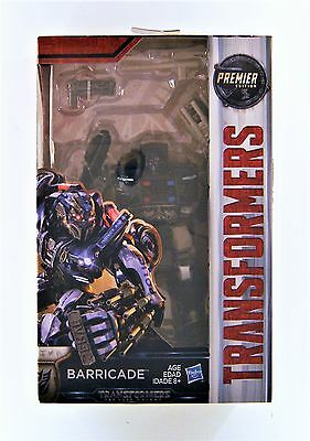 Hasbro Transformers: The Last Knight Premier Edition Deluxe Barricade Figure