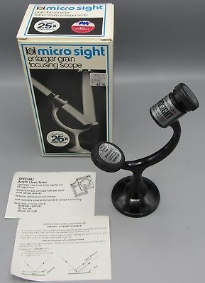 Micro Sight Enlarger Grain Focusing Scope More Than 25X Power Factor in Box