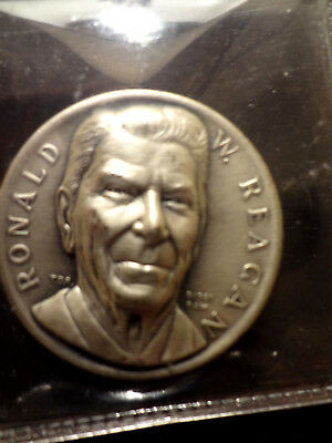 PRESIDENT RONALD REAGAN .999 Fine Silver Proof Inaugual Medal