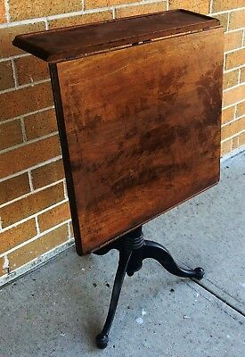 Antique AMERICAN IRON BASE TELESCOPIC ARCHITECT DRAFTING MECHANICAL TABLE Board
