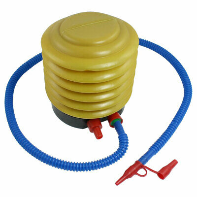 Blue Yellow Plastic Hand Foot Pump Inflator for Air Toys