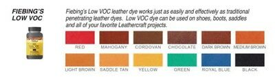 Fiebing's Low VOC Leather Dye - 12 Colors