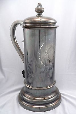 Vintage Antique Silverplate IHS Religious Pitcher Decanter Christian Altar Ewer
