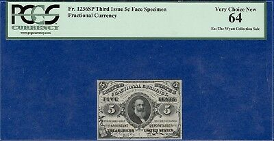 5 Cent Face Specimen Fractional Currency PCGS Very Choice New 64