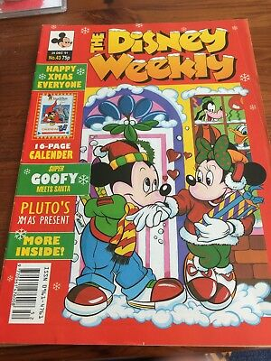 The Disney Weekly No 43 Xmas Issue 1991 - Historic Euro Disney Calender pullout