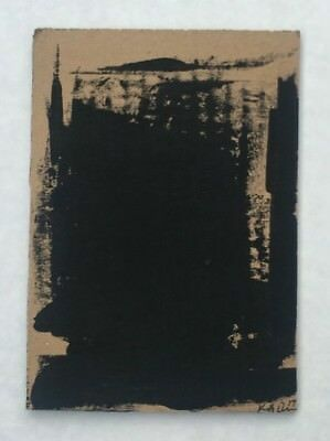 No.18 Original Abstract Mixed Media Minimalist Painting On Recycled Cardboard!