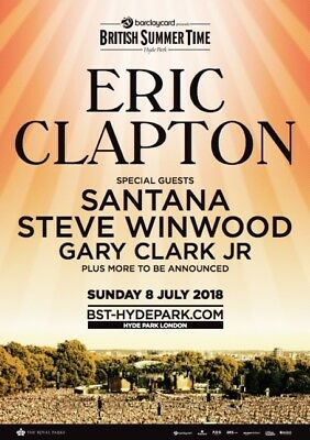 Eric Clapton tickets ×2 with Santana & Steve W at BST Hyde Park London
