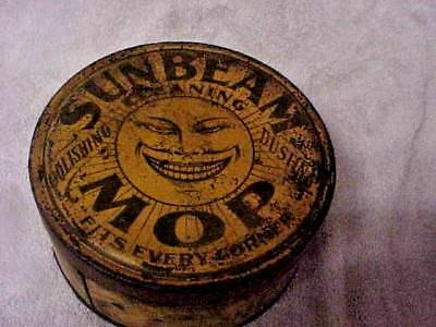 1920S Sunbeam House Mop Advertising Tin Neat Old Gritty Look Barn Fresh Nr