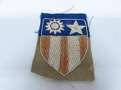 WWII U.S. Army patch CBI unique foreign made variant patch