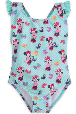 Disney 1 piece Minnie and Figaro   Swim Suit- Bathing Suit size 3