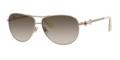 aecf334b67 Authentic Kate Spade Womans Circe 2s Bow Aviator Sunglasses 03YG Gold sz  59mm