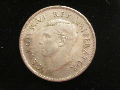 1942 SOUTH AFRICA 2 SHILLING Silver Coin