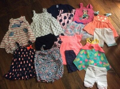 Lot of 16 Pieces 18 Month Girls Summer Clothes (All Name Brand!)